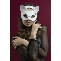 Маска кошечки Feral Feelings - Catwoman Mask белая